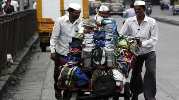 Mumbai's iconic dabbawalas have been hit by the lockdown as demand for the tiffin carrying service shrunk with more people working from home and restrictions on mobility. (Kunal Patil/Hindustan Times)