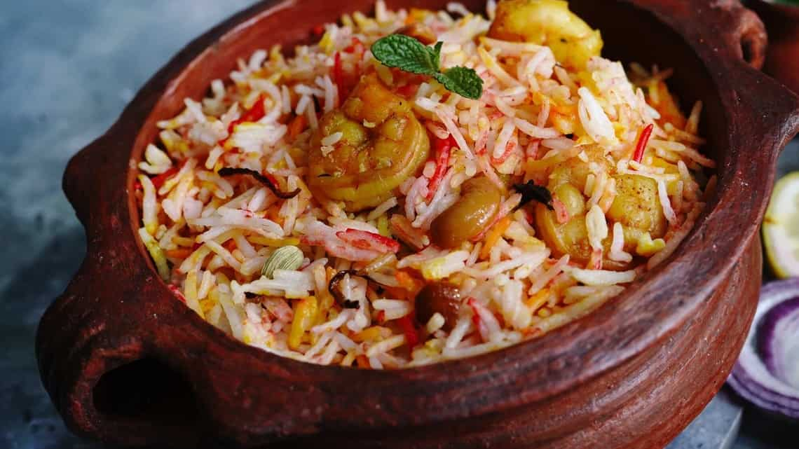 Sometimes, when we don't want to overthink the lunch thing, we fall back on an old, old favourite: prawn pulao. (Getty)