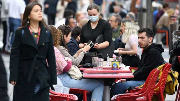 England remains on track for the easing of its coronavirus lockdown but is taking no chances after a doubling of cases of an Indian variant, the government has said. (AFP)