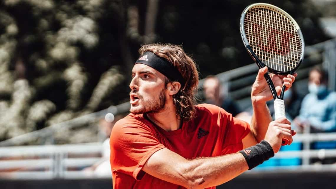 At 22, Stefanos Tsitsipas is the youngest men's player in the world top 5 He says the ruling men's players, Federer, Nadal and Djokovic, just never give up and it's a test whenever he faces them.