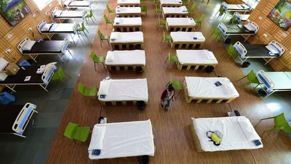 A COVID-19 care centre set up at a school at Dwarka, in New Delhi (Image for representation). (PTI)