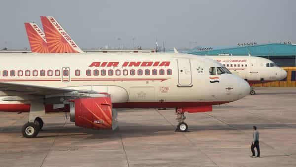 In this file photo, an Air India plane is seen parked at the Indira Gandhi International airport in New Delhi. (AFP)