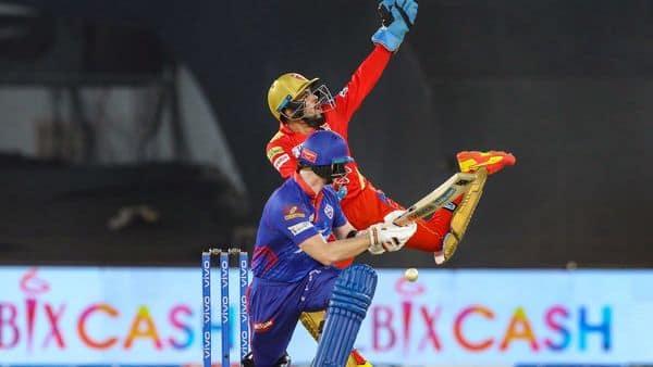 Ahmedabad: Prabhsimran Singh of Punjab Kings reacts during match 29 of the Indian Premier League 2021 (PTI)
