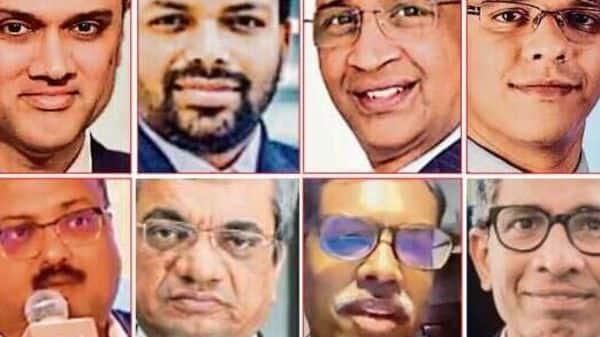 (Clockwise from top-left) Kalpesh Kikani, chief executive officer, Piramal Alternatives; Indranil Ghosh, managing director, CerberusCapitalServices;SriniSriniwasan,managingdirector,KotakInvestmentAdvisors;Aniruddha Sen, partner, Trilegal; VenkatRamaswamy,vice-chairman, EdelweissFinancialServices;ShyamMaheshwari,partner,AresSSGGroup;R.K. Bansal,managing director and chief executive, Edelweiss ARC; and Vishal Gupta, senior vice-president at SBI Capital Markets.
