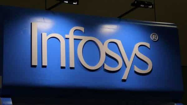 The Infosys logo is seen at the SIBOS banking and financial conference in Toronto, Ontario, Canada. (REUTERS)