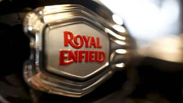 FILE PHOTO: The logo of Royal Enfield is pictured on a bike at Royal Enfield's flagship shore in Bangkok, Thailand,  (REUTERS)
