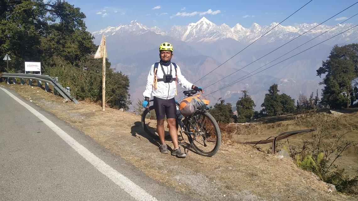Indranil Roy embarked on a 500-kilometre-long ride from Almora to Munsiyari. Photo: courtesy Indranil Roy