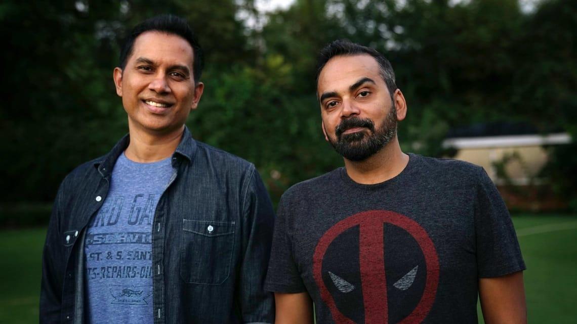 Raj Nidimoru and (right) Krishna DK