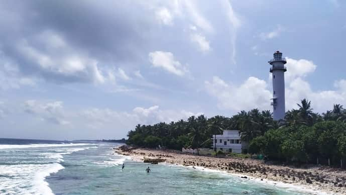A view of the Kavaratti lighthouse.