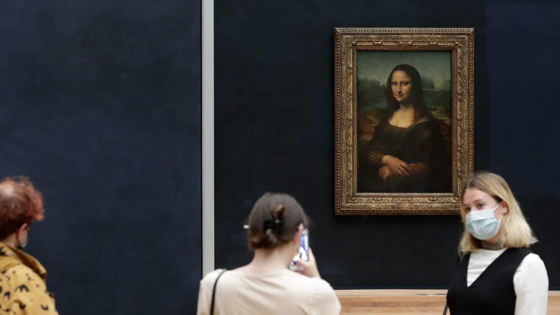 Leonardo da Vinci's 'Mona Lisa' in the Louvre, Paris. Image via AP