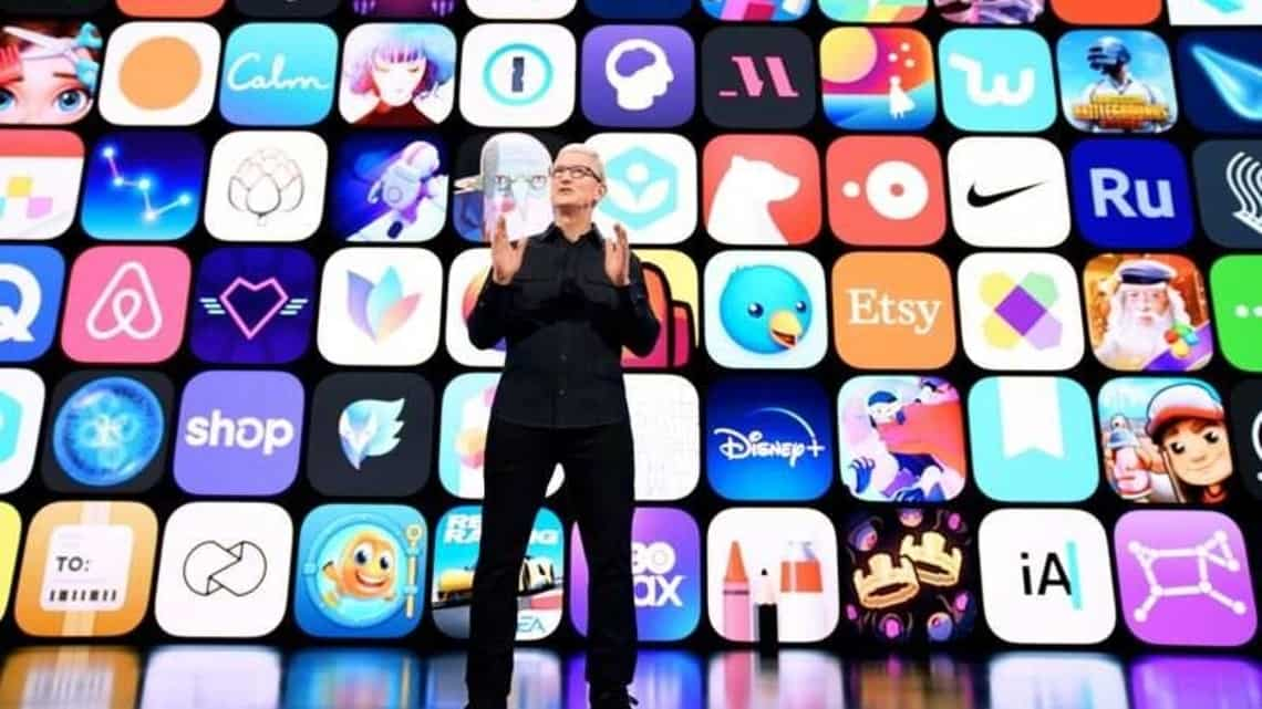 Apple CEO Tim Cook speaks during Apple's Worldwide Developers Conference at Apple Park in Cupertino, California, U.S., June 7, 2021.