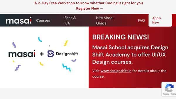Masai School offers courses in full stack web and android development and has a 'study now and pay later' model. It has already raised series A funding.
