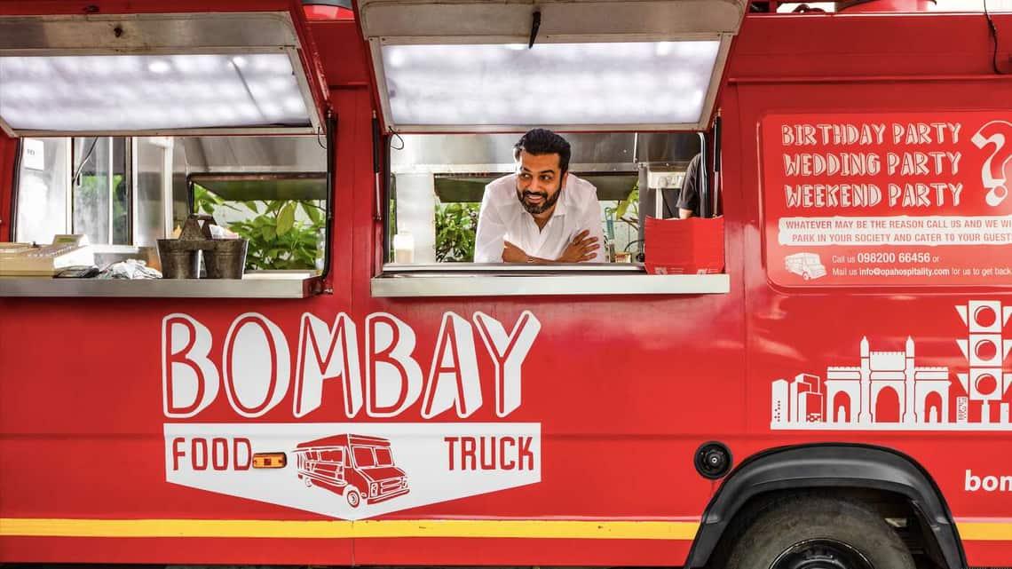 Ashesh Sajnani, founder of Bombay Food Truck.