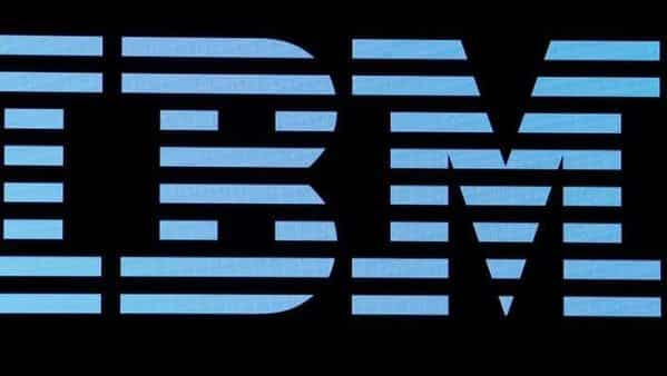 FILE PHOTO: The logo for IBM is displayed on a screen  (REUTERS)