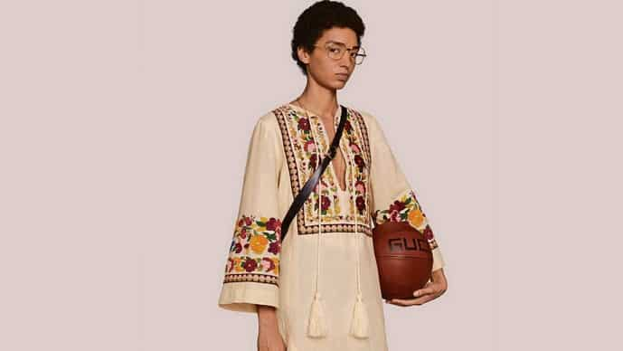 Gucci's floral embroidery organic linen kaftan, which looks a lot like a kurta, is available for a staggering $3,500 (about  <span class='webrupee'>₹</span>2,50,000).