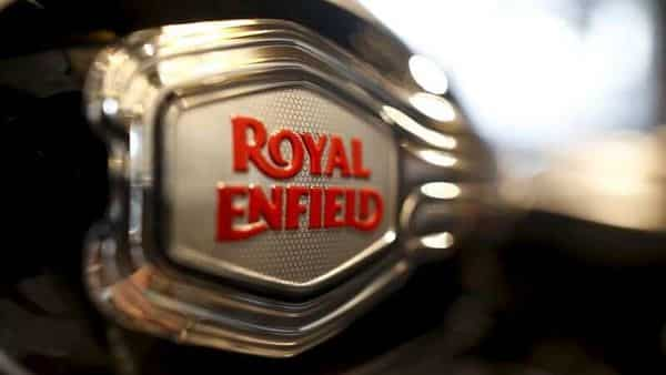 FILE PHOTO: The logo of Royal Enfield is pictured on a bike   (REUTERS)