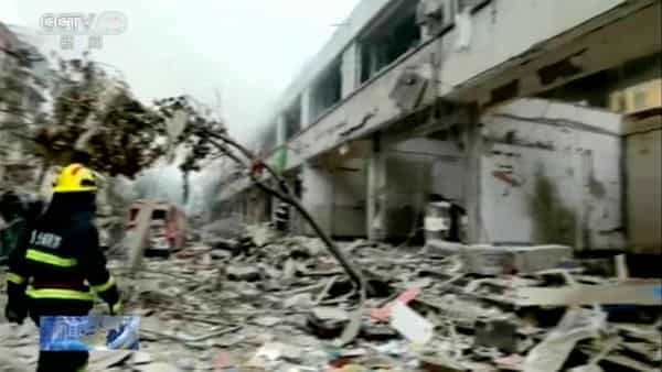 The explosion in the city of Shiyan killed at least 12 people and injured more than 140, including 39 of them seriously, China's official Xinhua News Agency reported (Photo: AP)