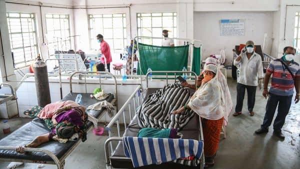 Nashik: COVID-19 patients at Zakir Hussain Municipal Hospital  (PTI)