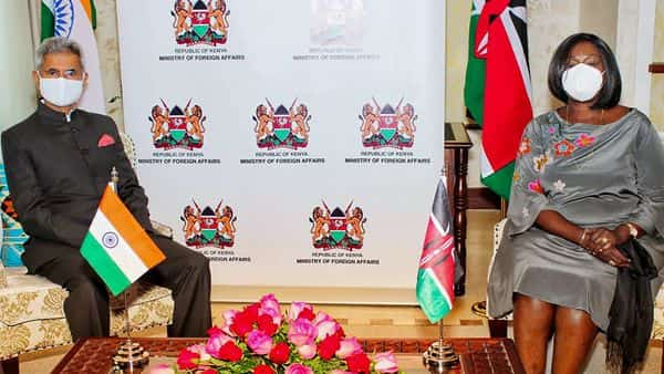 External Affairs Minister of India, Dr. S. Jaishankar, meets Foreign Affairs Minister of Kenya, Raychelle Omamo, in Kenya. (PTI)