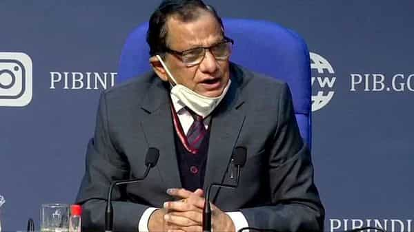 Niti Aayog member Dr. VK Paul addresses at a press conference in New Delhi on Tuesday. (ANI Photo)