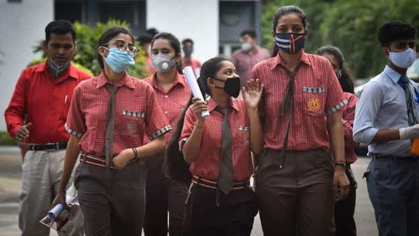 Students of class 12 exit after appearing for an exam (HT_PRINT)
