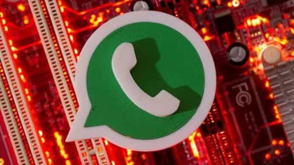 FILE PHOTO: A 3D printed Whatsapp logo is placed on a computer motherboard (REUTERS)
