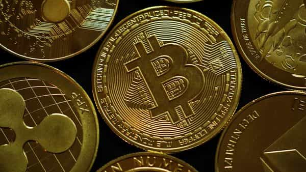 A representation of the virtual cryptocurrencies is seen in this picture illustration  (REUTERS)
