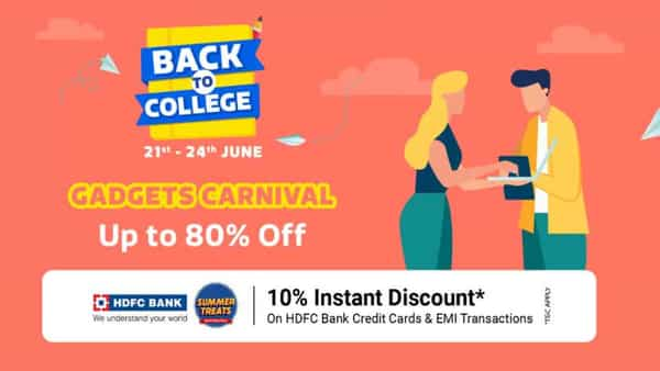 Flipkart will also be offering a 10% instant discount for buyers making the purchase using HDFC Credit cards and no-cost EMIs