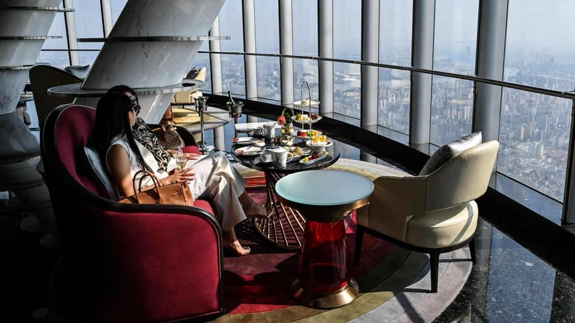 The J Hotel is located in the Shanghai Tower, in Shanghai.