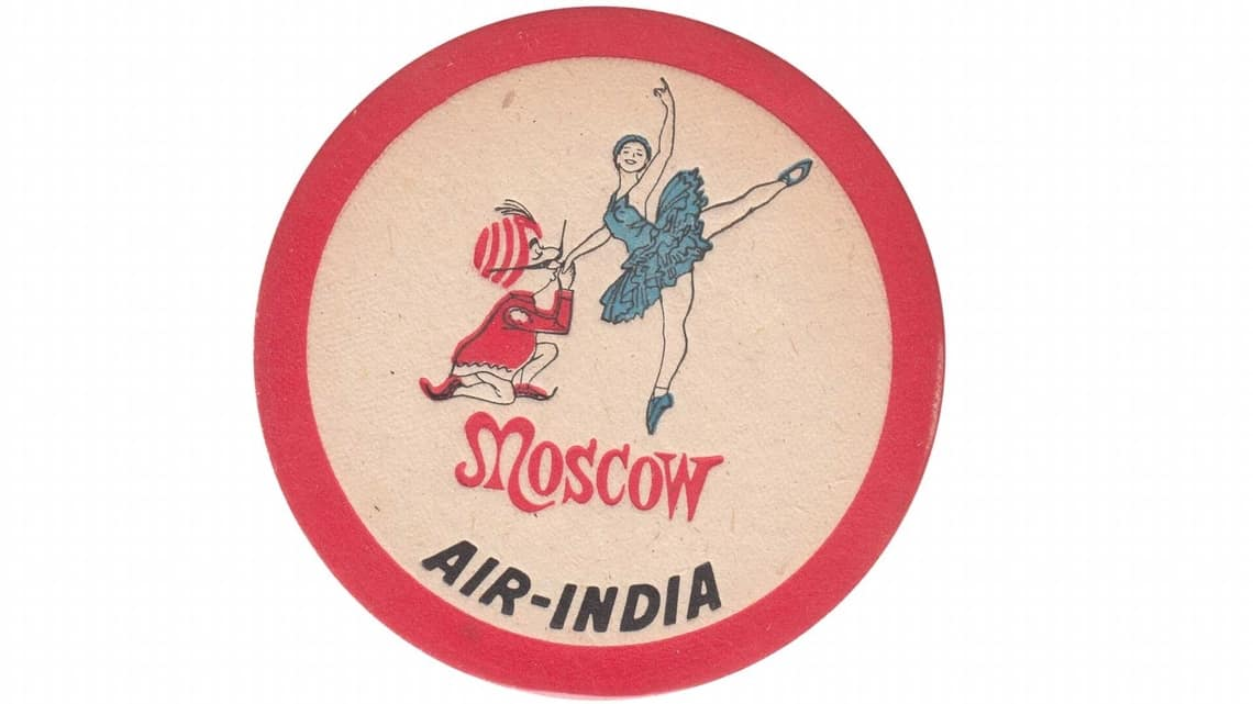 A vintage Air India coaster by Air India Collector.
