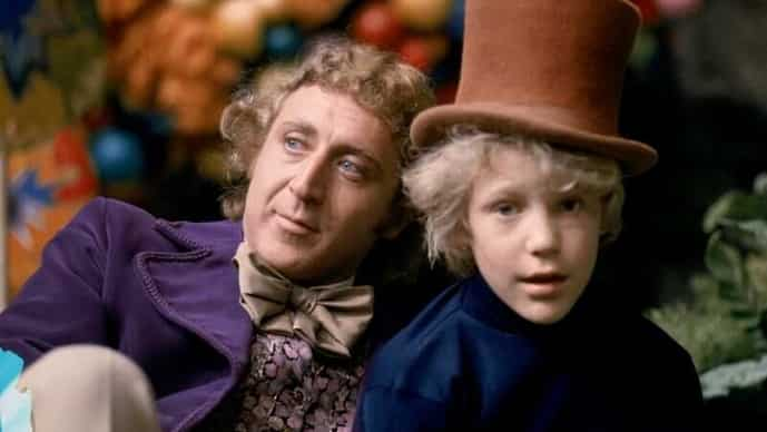 Actor Gene Wilder as Willy Wonka and Peter Ostrum as Charlie Bucket in the 1971 film 'Willy Wonka & the Chocolate Factory.' Photo: Warner Bros./handout via Reuters
