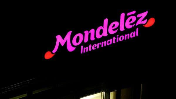 FILE PHOTO: The logo of Mondelez International  (REUTERS)
