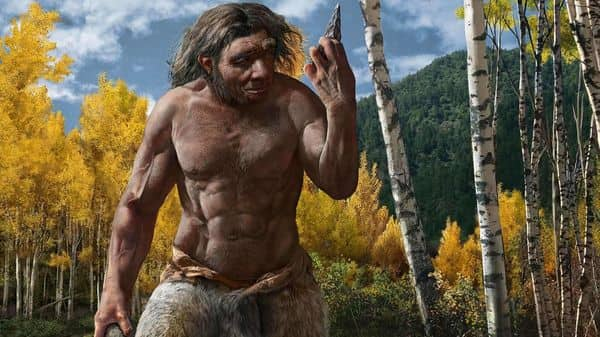 A handout photo shows a reconstruction of Dragon Man in his habitat. - Scientists announced Friday that a skull discovered in Northeast China represents a newly discovered human species they have named Homo longi or 'Dragon Man,' and the lineage may replace Neanderthals as our closest relatives.  (AFP)