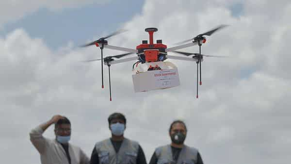 If the trials are successful, the drone delivery model for emergency medicines and vaccines will be implemented on a commercial level. (File Photo: AFP)