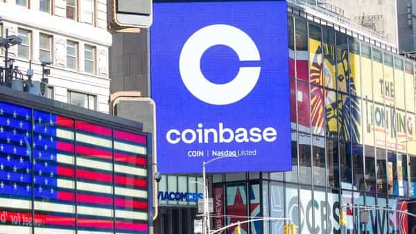 One of the world's largest cryptocurrency exchanges, Coinbase, listed on the Nasdaq in April. (Photo: Bloomberg)