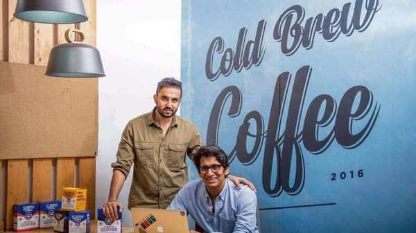 Co-founders of Sleepy Owl Ajai Thandi (left) and Arman Sood. The coffee brand relies on its formula of travel friendly and easy-to-use DIY brew packs.  (Photo: Pradeep Gaur)