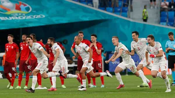 The quarter-finals have already started with Switzerland taking on Spain in the first quarter-final match held on 2 July.. (Photo by MAXIM SHEMETOV / POOL / AFP) (AFP)