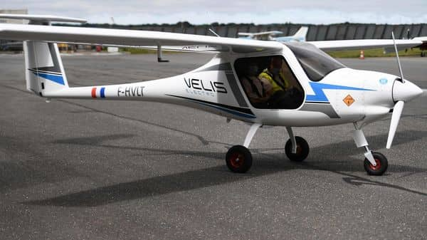 Picture for representation. This picture taken in Guipavas, western France shows a Pipistrel Velis Electro, the first electric plane certified by European Union Aviation Safety. (AFP)