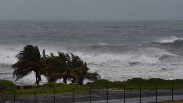 Hurricane Elsa approaches Argyle, St. Vincent. (AP)