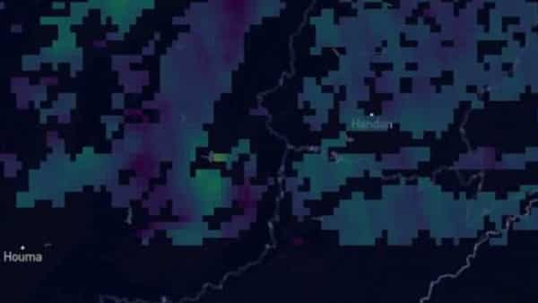 A methane plume spotted over Shanxi June 18. Source: Kayrros SAS (Bloomberg)