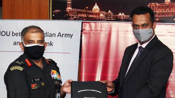 Axis Bank MOU with Indian Army