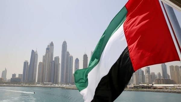 UAE flag flies over a boat at Dubai Marina, Dubai, United Arab Emirates (File photo) (REUTERS)