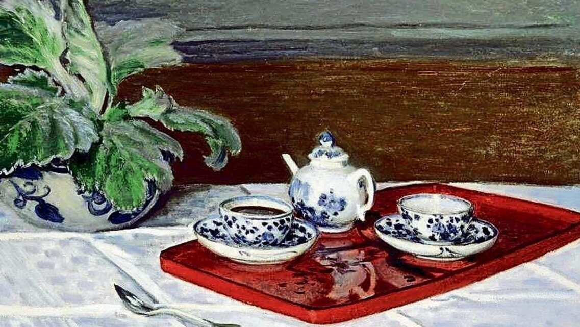 Detail from 'The Tea Service' (1872) by Claude Monet.