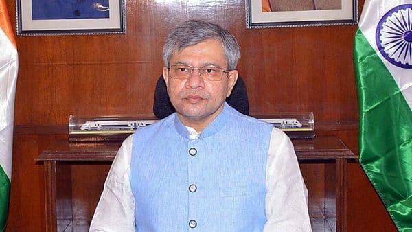 Ashwini Vaishnaw takes charge as the Union Minister for Railways. (ANI)