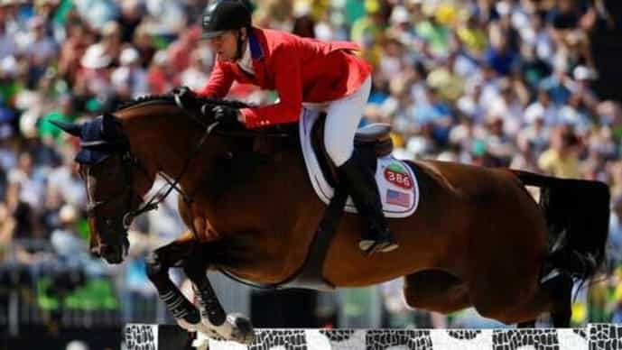 McLain Ward in equestrian jumping competition at the 2016 Summer Olympics in Rio de Janeiro, Brazil. He and McKeever will be participating in the Tokyo Olympics.