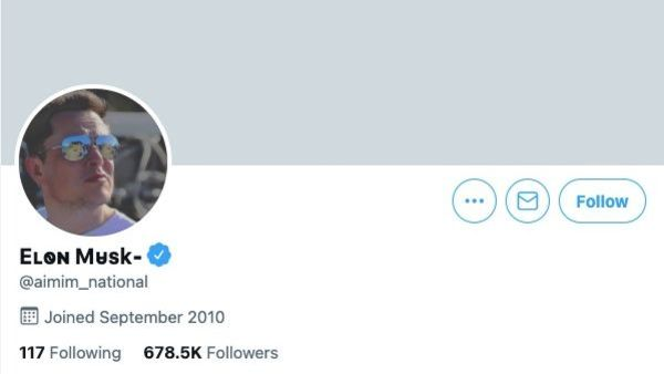 The official Twitter account of AIMIM was hacked on Sunday