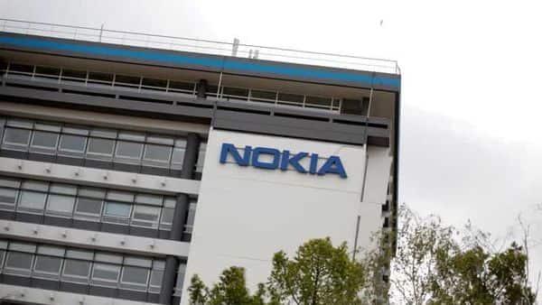 The logo of Nokia is seen at the Nokia Paris-Saclay campus in Nozay, near Paris, France. (REUTERS)