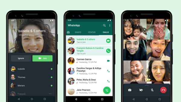 WhatsApp group call feature will be found under the calls tab