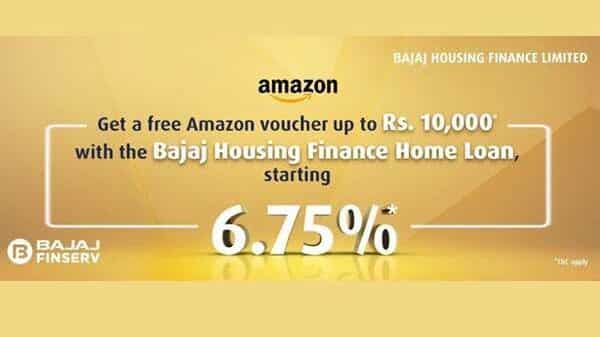 Customers need to apply for a home loan on the Bajaj Housing Finance Limited website to be eligible for this offer.