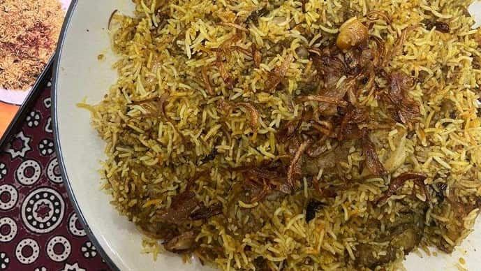 A Bakr-Eid dastarkhan boasts of a slow cooked biryani. (Photo: Sadaf Hussain)